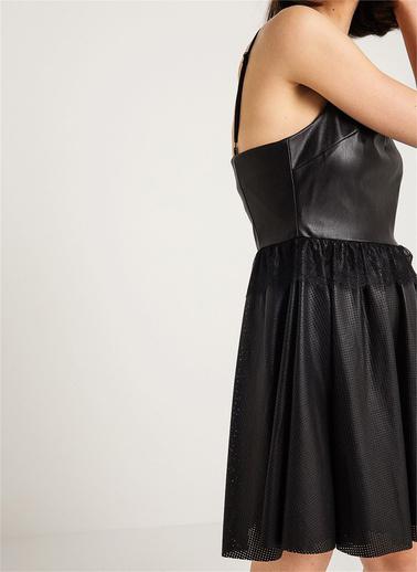 Fracomina İp Askılı Mini Kloş Elbise Siyah